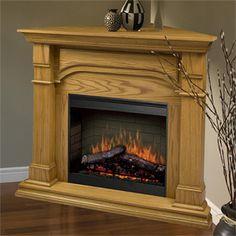 Dimplex Oxford Medium Oak Corner Electric Fireplace Mantel Package - SMP-195C-O