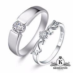 Beli cincin paladium sepasang K110 dari Kedhaton Jewelry kedhatonjewelry - Yogyakarta hanya di Bukalapak