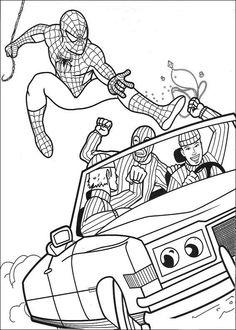 Spiderman Målarbilder för barn. Teckningar online till skriv ut. Nº 11