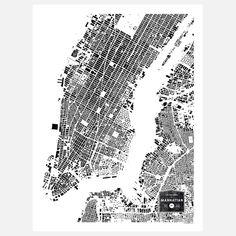 Buildings Of Manhattan poster