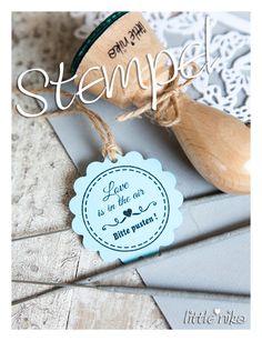 Einladungskarten - Stempel Hochzeit * Bitte pusten * für Seifenblasen - ein Designerstück von littlenika bei DaWanda