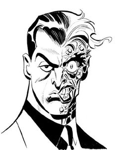 bruce-timm-batman-animated-series-two-face. Comic Book Artists, Comic Book Characters, Comic Artist, Comic Character, Comic Books Art, Character Design, Bruce Timm, Batman Kunst, Batman Art