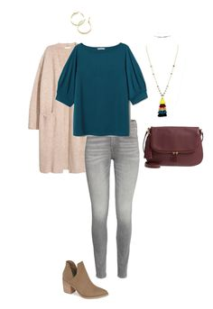 Style Your Size: Day One of the Fall 2018 Capsule Wardrobe from Get Your Pretty . - Pin This Gray Shirt Outfit, Teal Shirt, Capsule Wardrobe Mom, Fall Wardrobe, Mom Wardrobe, Teal Outfits, Fashion Outfits, Stylish Outfits, Fashion 2018