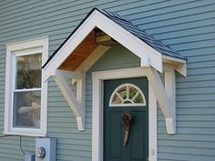 adding an exterior front entrance awning - Google Search