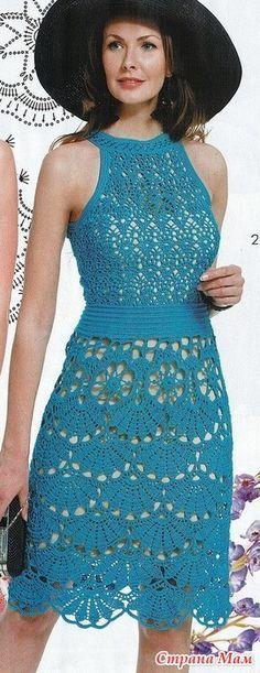 Эти совершенно разнве платья объединяет один очень красивый узор на подоле. Нарядно и очень по летнему! Журнал мод №609