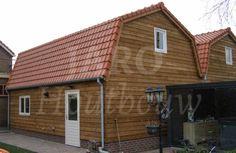 Www.jaro-houtbouw.nl 0341-759000 dubbele garage | schuur in Bergambacht. Deze garage | schuur is uitgevoerd met een mansardekap of ook wel een gebroken kap genoemd.