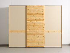 Schiebetürschrank aus Zirbe von ANREI Divider, Dressing, Furniture, Home Decor, Woodwind Instrument, Closet, Bedroom, Ad Home, Homes