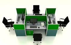 Modern Office Cubicles High Partition Modular Workstation (HF-YZ093)