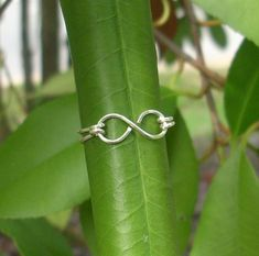 Silver wire Infinity Ring by RingBinder on Etsy, $9.95