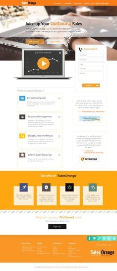 Landing page designs for online sales platform for lead generation by Sunriser