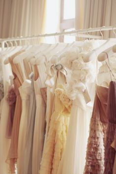 I want a plethora of pretty dresses at my beck and call.
