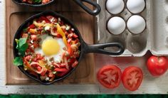 Baked Eggs with Lentils, Peppers & Tomatoes | Lentils For Every Season Volume 11 Garden to Table | Lentils.ca