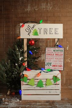 Cut Your Own Tree Backdrop by Terri Leva Photography. Order online at http://www.backdropscanada.ca Christmas Photography Backdrop for children