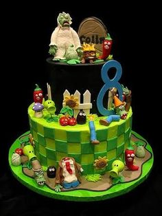 Plants vs zombies themed party cake ideas / Plants vs zombies ...