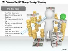 1813 3D Illustration of Money Saving Strategy Ppt Graphics Icons Powerpoint #Powerpoint #Templates #Infographics