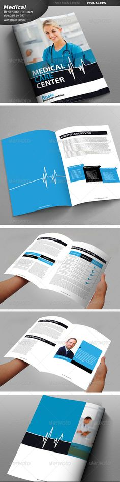 Medical research brochure template design stocklayouts for Drug brochure template