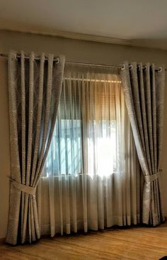 More than 20 Striking Recommendations For Big Window Curtains, Fancy Curtains, Modern Curtains, Curtains With Blinds, Living Room Decor Curtains, Home Curtains, Living Room Windows, Apartment Curtains, Curtain Styles