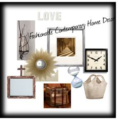 """""""Fashionable Contemporary Home Decor"""" by dleath on Polyvore"""