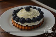 Blueberries tart Diet Inspiration, Greek Yoghurt, Chocolate Filling, Powdered Milk, Gelatin, Blueberries, Biscotti, Vanilla, Desserts