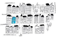 Kauniste shop map in downtown Helsinki.