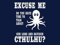 FUNNY T-SHIRT Cthulhu Science Fiction Fantasy T-Shirt Mens Womens Kids Octopus Tee also available on crewneck sweatshirts and hoodies SM-5XL by 9dollartshirts on Etsy