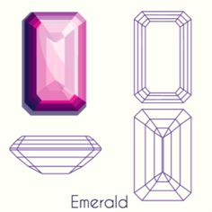 You're not a flashy type, but you do like to be a bit different — an emerald cut is a bit edgier thanks to its geometric design, and there's something special and vintage about its feel. What Diamond Cut Is Right For You? Geometric Designs, Geometric Shapes, Gem Drawing, Triangle Art, Diamond Art, Diamond Rings, Jewelry Design Drawing, Principles Of Art, Jewellery Sketches