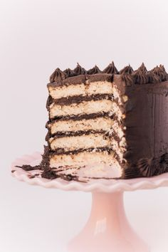Brown Butter Cake with Dark Chocolate Buttercream