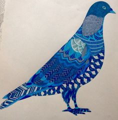 Millie Marotta dierenrijk kleurboek Blauwe duif
