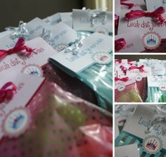 Birthday party 'little Mermaid', thank you presents for the guests.