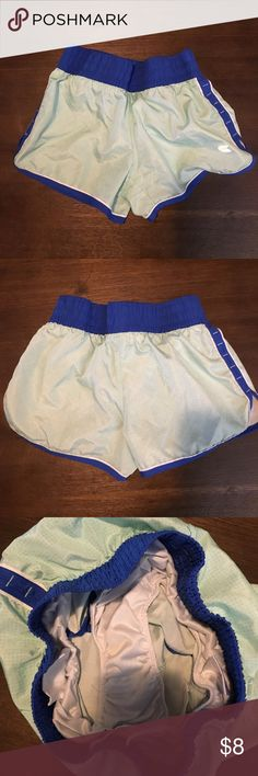 Excellent condition workout shorts Mint and royal blue workout shorts.  Built in underwear. Colosseum Shorts