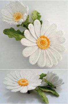 camomile crocheted