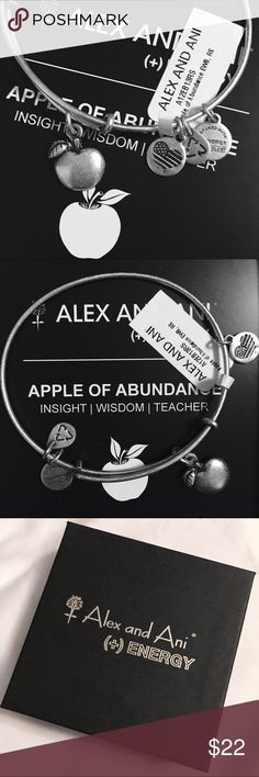 NWT Alex and Ani bracelet Brand new! Alex and Ani Apple of Abundance bracelet in silver finish tone. { Insight   Wisdom   Teacher } Comes with Alex and Ani gift box! Perfect for gift giving! Alex & Ani Jewelry Bracelets
