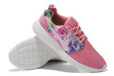 Nike Women's Roshe Run Floral Running Shoes Pink