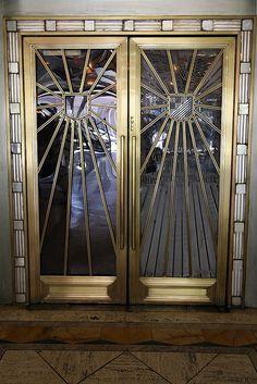Art Deco Doors, Oviatt Building by Non Paratus, via Flickr