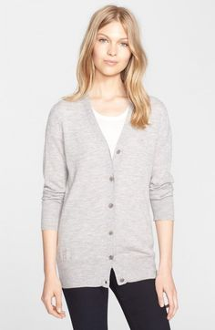 Burberry Women's Brit Cashmere V Neck Cardigan | Sweater and Clothing