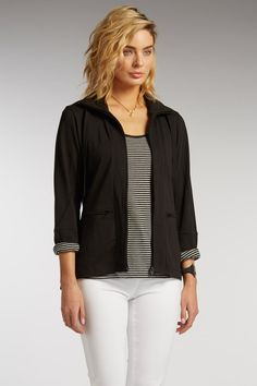 Womens Journey Zip Jacket in black by Indigenous | summer fashion