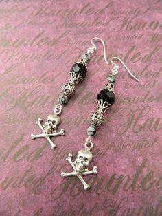 Skull - Earrings by Christina Davis. $20.00, via Etsy.
