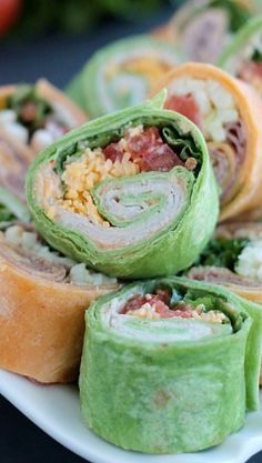 Tortilla Pinwheels - I want to try the spicy mayo sounds good for Christmas