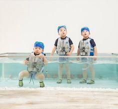 Daehan Minguk Manse my favorite triplets babies <3