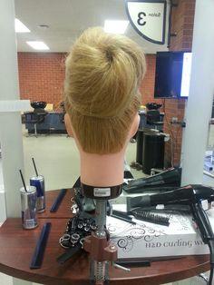 Long hair bun