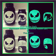 Glow-in-the-Dark Nightmare Before Christmas Mason Jars by, Tina Listro