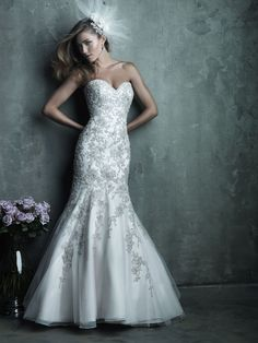 Allure Bridals : Couture Collection : Style C283 : Available colours : White/Silver, Ivory/Siver, Champagne/Ivory/Silver