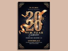 new year eve party flyer template hotpin on dribbble New Year Eve Party Psd Free 2021 Nye Flyer Template nye new year flyer champagne night on behance nye flyer template events flyers flyer design new ye... Bill Of Sale Template, Free Psd Flyer Templates, Best Templates, New Year's Eve Flyer, Invitation Flyer, Flyer And Poster Design, Christmas Flyer, Party Poster, Graduation Invitations