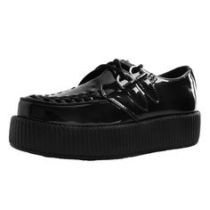 T.U.K. Shoes Iridescent Black Viva High Sole Creeper AV9343 Puma Platform, Platform Sneakers, Black Creepers, Creeper Style, Skull And Bones, The Vamps, Summer Collection, Iridescent, Style Icons