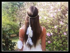Hey, I found this really awesome Etsy listing at https://www.etsy.com/listing/203972207/white-feather-headband-native-american