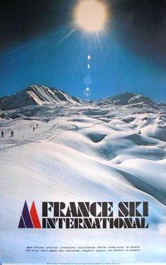 FRANCE SKI INTERNATIONAL (LA PLAGNE) - affiche de Chastel (1979)