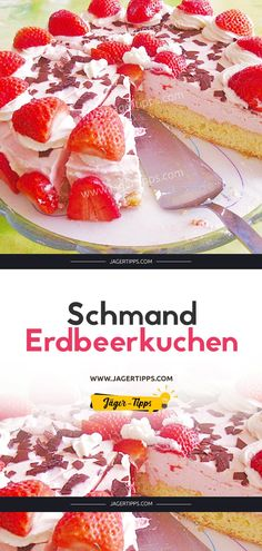 Schmand – Erdbeerkuchen Schmand strawberry cake sour cream strawberry cake The post sour cream strawberry cake appeared first on cake recipes. Delicious Cake Recipes, Best Cake Recipes, Yummy Cakes, Snack Recipes, Summer Desserts, Summer Recipes, Summer Drinks, Pink Drink Recipes, Hazelnut Cake