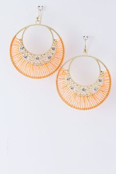 Apricot Logan Earrings on Emma Stine Limited