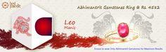 #AajmaKarDekho Abhimantrit Gemstones Ring Leo ( Manic ).....for more details visit http://www.buyrashiratan.com