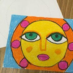 Circle Pastel Sun